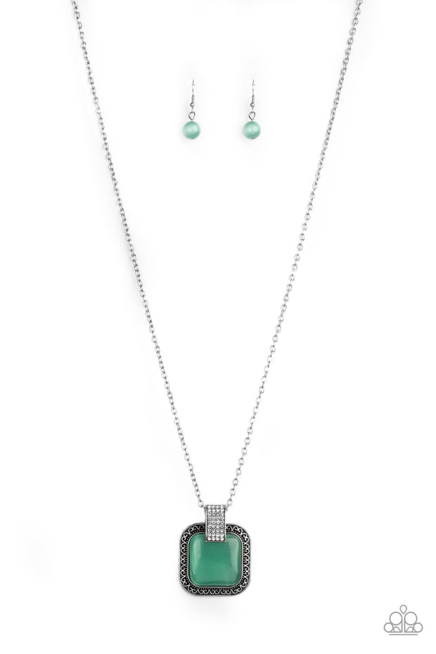 Paparazzi Effervescent Elegance Green Necklace
