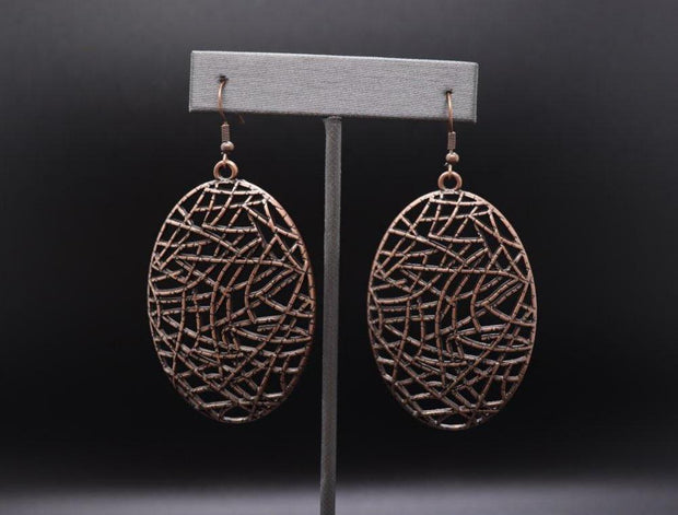 PAPARAZZI WAY OUT OF LINE - COPPER Earrings