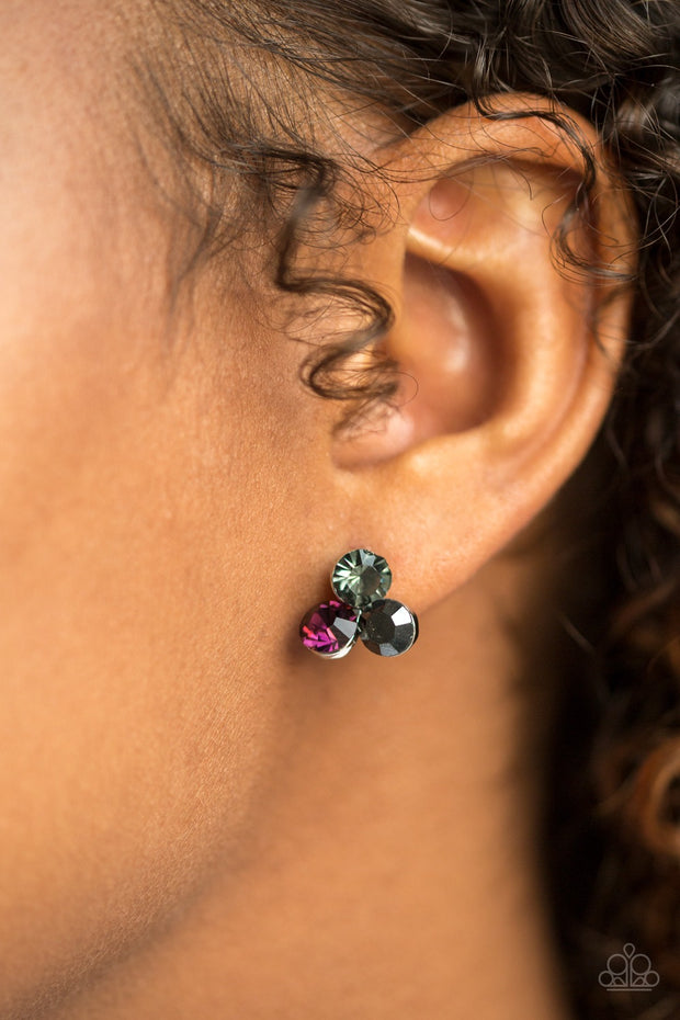 Paparazzi Everything Must GLOW! Purple Post Earrings - Glitzygals5dollarbling Paparazzi Boutique