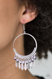Paparazzi Floral Serenity - Purple Tassels - Silver Hoop Earrings - Glitzygals5dollarbling Paparazzi Boutique