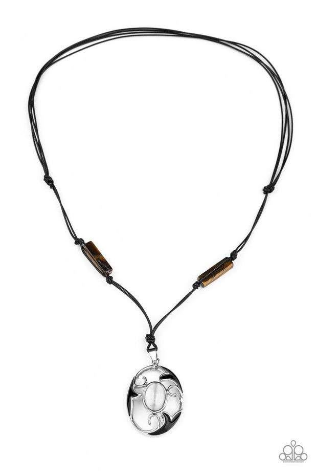 Paparazzi Tidal Talisman - Brown - Cat's Eye Moonstone - Sliding Knot Necklace - Glitzygals5dollarbling Paparazzi Boutique