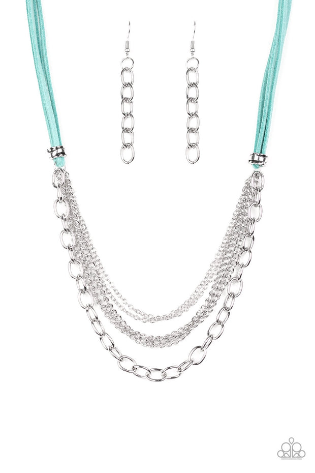 Paparazzi Free Roamer - Blue Necklace - Glitzygals5dollarbling Paparazzi Boutique
