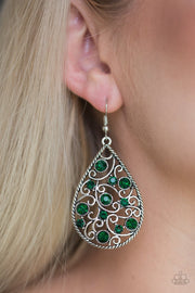 Paparazzi Certainly Courtier Green Earrings - Glitzygals5dollarbling Paparazzi Boutique