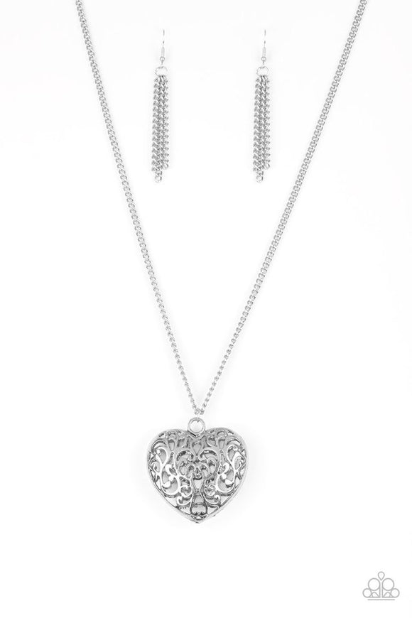 "Paparazzi ""Victorian Virtue"" Silver Necklace"