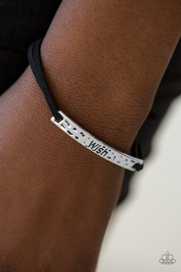 "Paparazzi ""Careful What You Wish For"" Black Bracelet - Glitzygals5dollarbling Paparazzi Boutique"