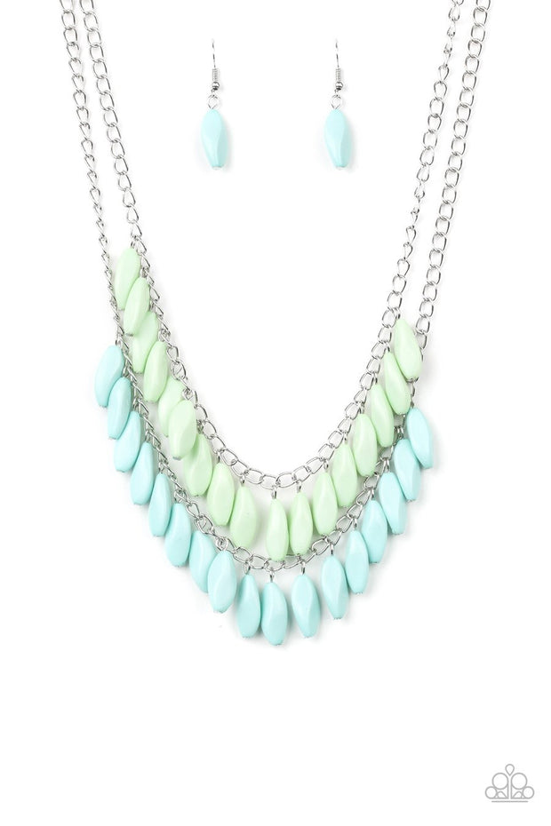Paparazzi Beaded Boardwalk Blue Necklace - Glitzygals5dollarbling Paparazzi Boutique