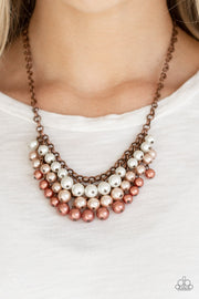 Paparazzi Run For The HEELS! Copper Pearl Necklace - Glitzygals5dollarbling Paparazzi Boutique