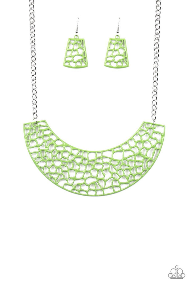 Powerful Prowl - green - Paparazzi necklace