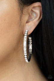 Global Gleam - white - Paparazzi earrings - Glitzygals5dollarbling Paparazzi Boutique