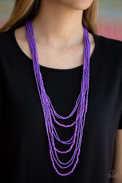 Paparazzi Totally Tonga Purple Necklace - Glitzygals5dollarbling Paparazzi Boutique
