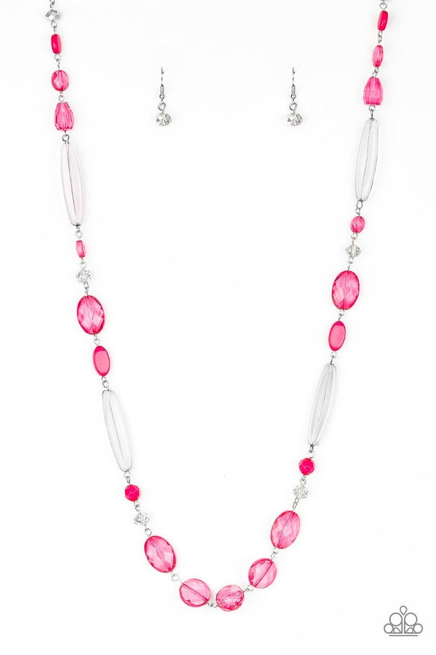 Paparazzi Quite Quintessence - Pink Necklace and matching Earrings - Glitzygals5dollarbling Paparazzi Boutique