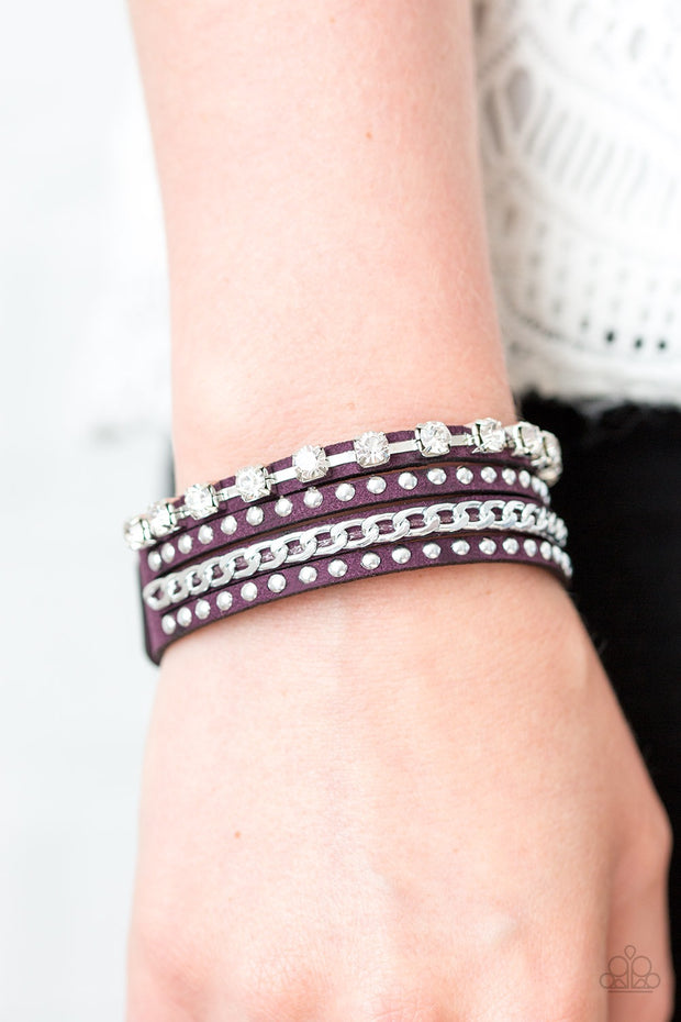 You Talkin To Me? Purple Urban Bracelet - Glitzygals5dollarbling Paparazzi Boutique