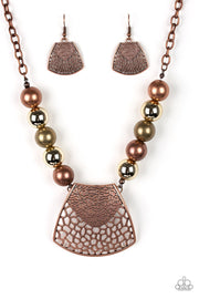 Paparazzi Large and In Charge - Multi - Necklace and matching Earrings - Glitzygals5dollarbling Paparazzi Boutique