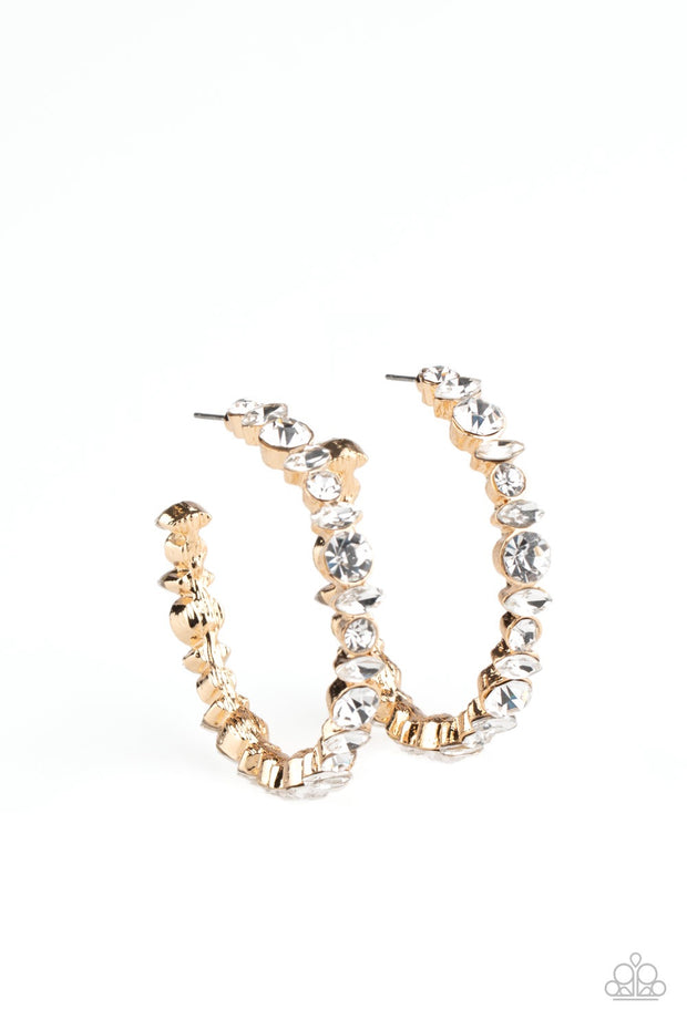 Paparazzi Can I Have Your Attention? - Gold Hoop Earrings