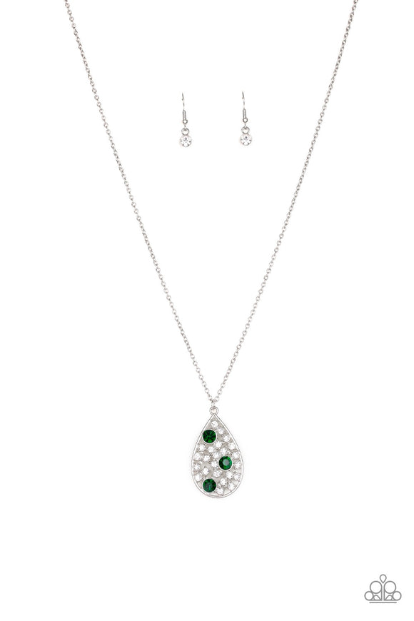 Paparazzi Sparkle All the Way Home Green Necklace