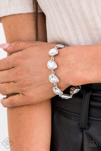 Paparazzi Free Rein - White Bracelet Fashion Fix Exclusive