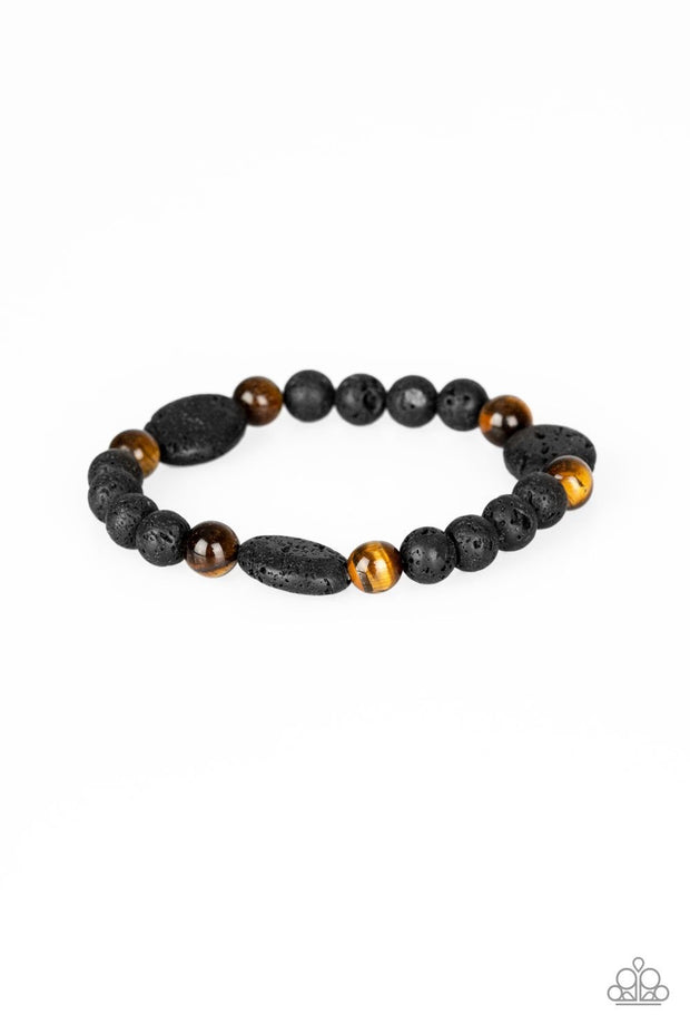 Paparazzi A Hundred and ZEN Percent Brown Urban Bracelet - Glitzygals5dollarbling Paparazzi Boutique