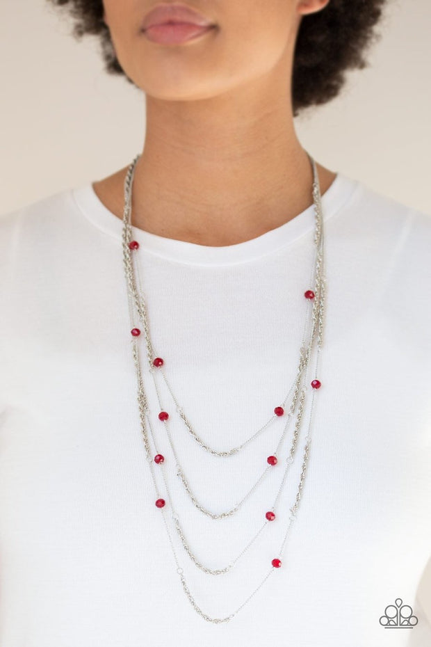 Paparazzi Open For Opulence - Red Necklace - Glitzygals5dollarbling Paparazzi Boutique