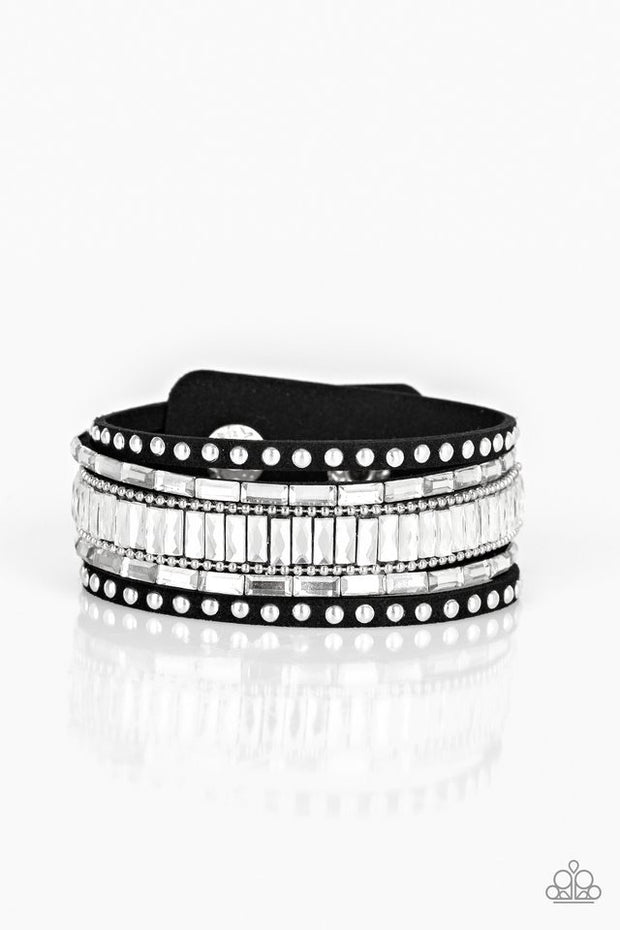 Paparazzi Rock Star Rocker Black Bracelet - Glitzygals5dollarbling Paparazzi Boutique