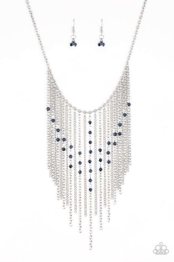 Paparazzi First Class Fringe Blue Necklace