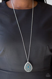 Paparazzi I Am Queen Blue Necklace - Glitzygals5dollarbling Paparazzi Boutique