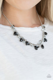 Paparazzi Courageously Catwalk - Multi - Silver Chain Necklace and matching Earrings - Glitzygals5dollarbling Paparazzi Boutique