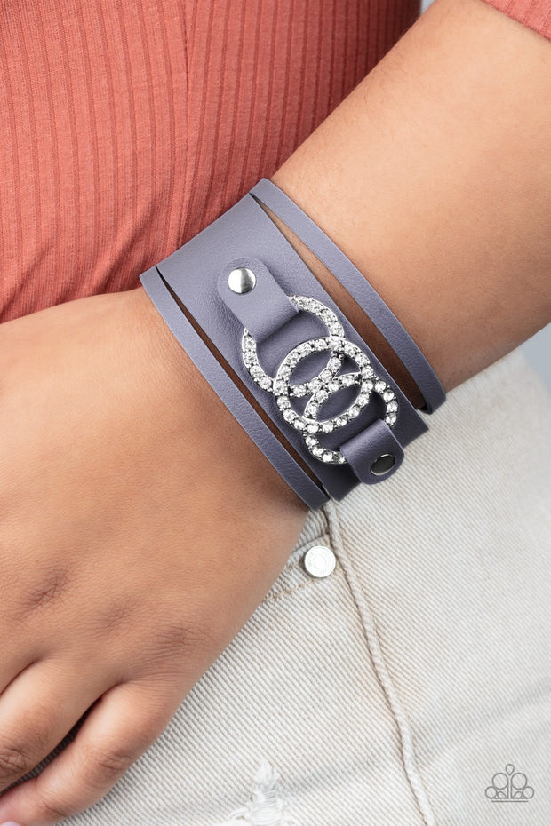 PREORDER Paparazzi Couture Influencer - Blue Wrap Bracelet