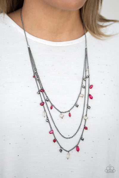 Pebble Beach Beauty Multi Necklace - Glitzygals5dollarbling Paparazzi Boutique