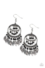 Herbal Remedy - black - Paparazzi earrings