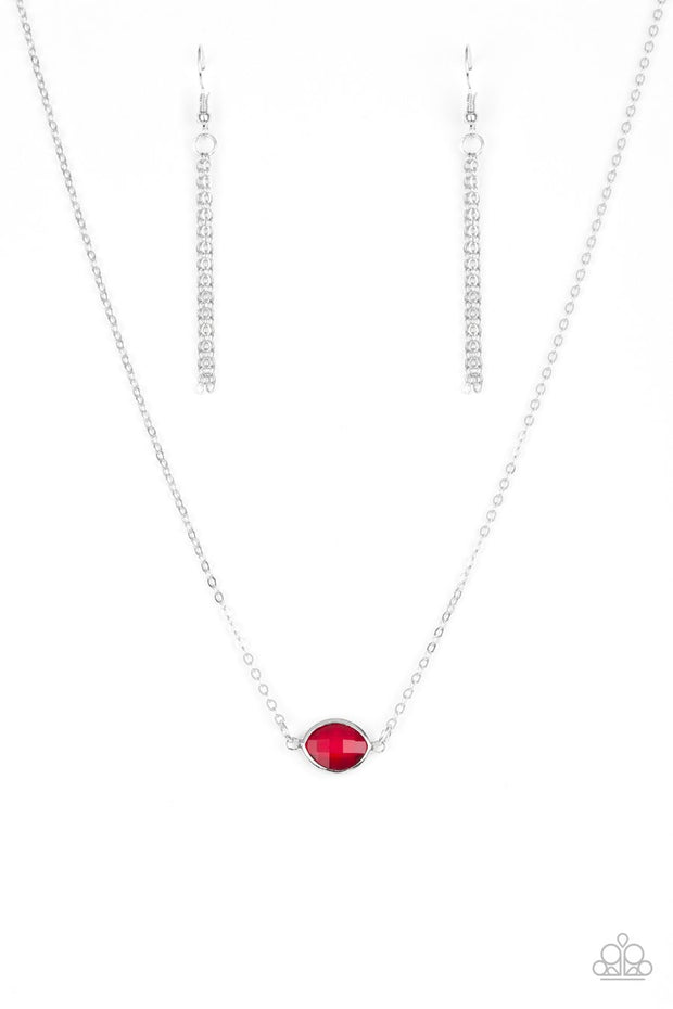 Paparazzi Fashionably Fantabulous Red Necklace - Glitzygals5dollarbling Paparazzi Boutique
