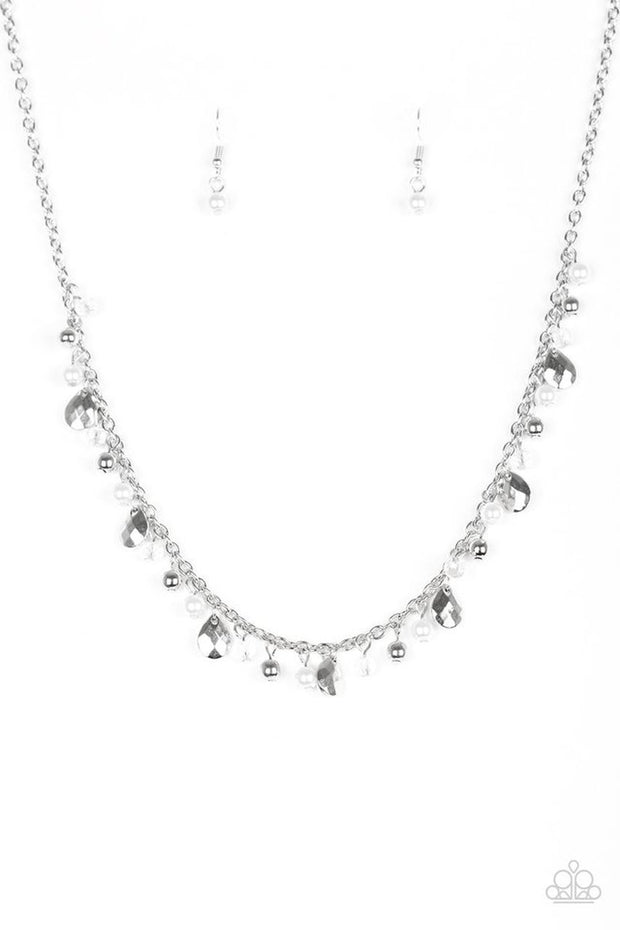 Spring Sophistication - white - Paparazzi necklace - Glitzygals5dollarbling Paparazzi Boutique
