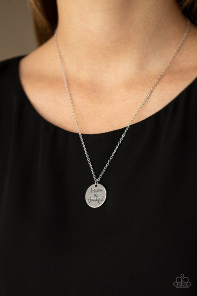Paparazzi America the Beautiful Silver Necklace - Glitzygals5dollarbling Paparazzi Boutique