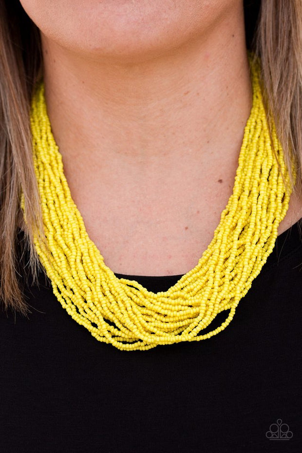 Paparazzi The Show Must CONGO On Yellow Necklace - Glitzygals5dollarbling Paparazzi Boutique