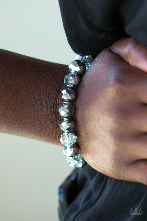 "Paparazzi ""Beautifully Bewitching"" Silver Bracelet - Glitzygals5dollarbling Paparazzi Boutique"