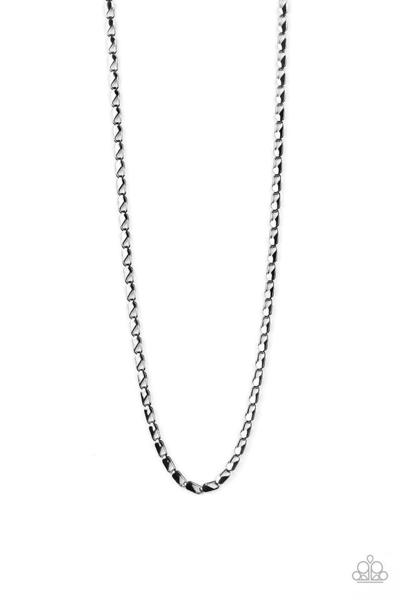 Paparazzi Free Agency - Black Mens Necklace