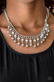 Paparazzi Pageant Queen - White Necklace - Glitzygals5dollarbling Paparazzi Boutique
