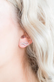 "Paparazzi ""Never-Ending Elegance"" White Post Earrings - Glitzygals5dollarbling Paparazzi Boutique"