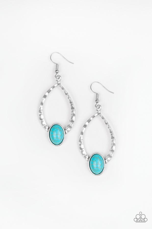 Pony Up Blue Turquoise Paparazzi Earrings - Glitzygals5dollarbling Paparazzi Boutique