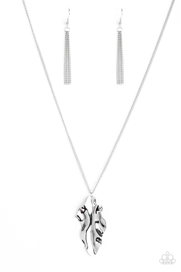 Paparazzi Fiercely Fall Silver Necklace