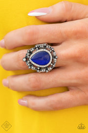 Paparazzi Ring ~ Iridescently Icy - Fashion Fix Nov 2020 - Blue - Glitzygals5dollarbling Paparazzi Boutique