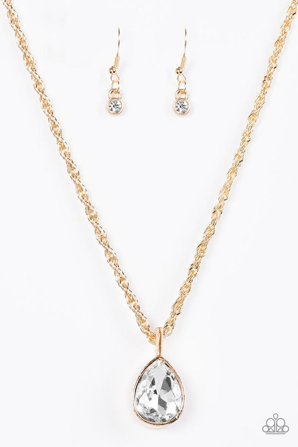 Paparazzi Million Dollar Drop Gold Necklace