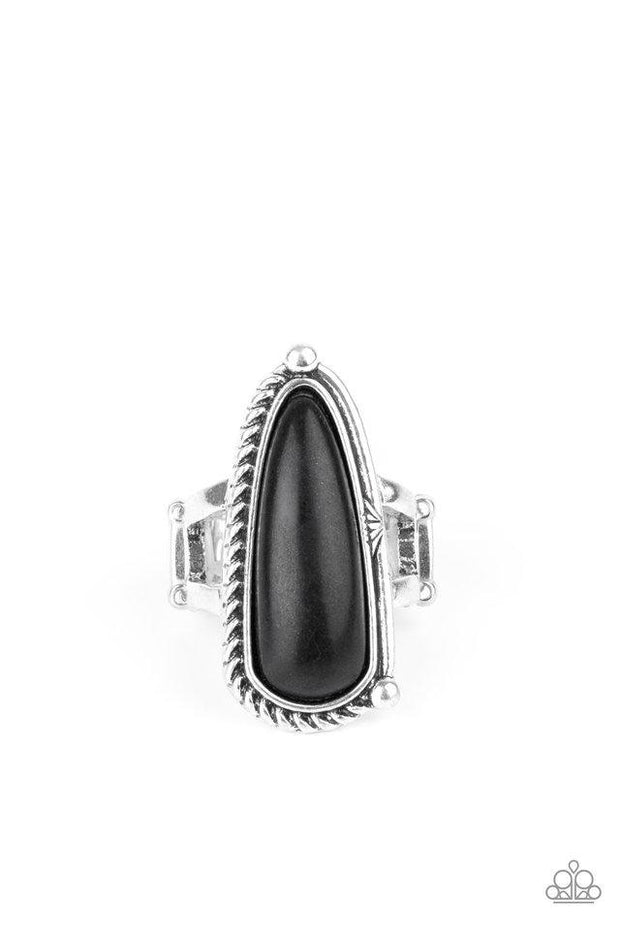Paparazzi Ring ~ Pioneer Plains - Black - Glitzygals5dollarbling Paparazzi Boutique