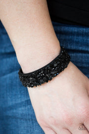 Totally Crushed It Black Urban Bracelet - Glitzygals5dollarbling Paparazzi Boutique