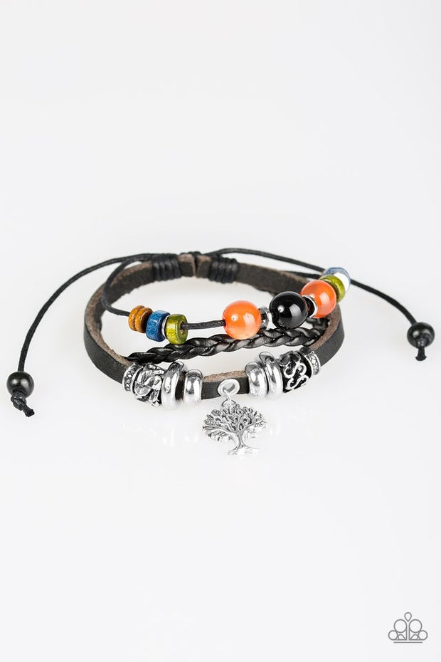 "Paparazzi ""Tree of Life"" Black Bracelet - Glitzygals5dollarbling Paparazzi Boutique"