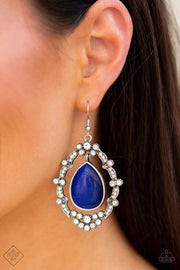 Paparazzi Earrings ~ Icy Eden - Fashion Fix Nov 2020 - Blue - Glitzygals5dollarbling Paparazzi Boutique