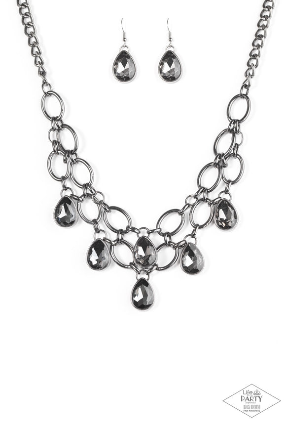 Paparazzi Show-Stopping Shimmer - Black Gunmetal Hematite Necklace