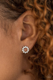 Richly Resplendent - white - Paparazzi earrings