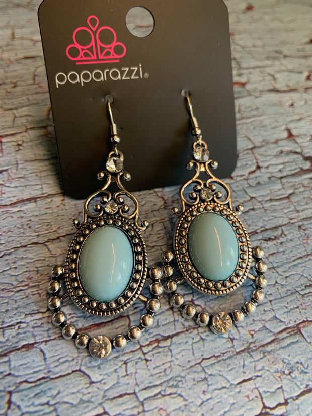 Paparazzi CAMEO and Juliet Blue Exclusive Earrings June 2020