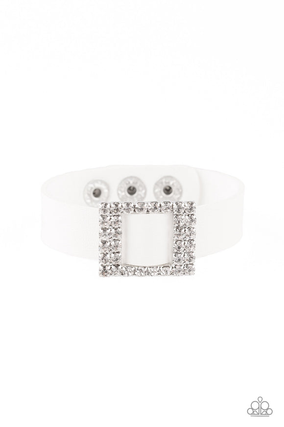 Paparazzi Diamond Diva White Bracelet