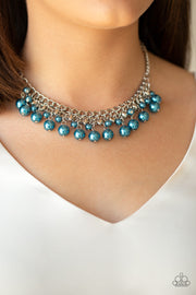Paparazzi Duchess Dior - Blue Pearl Beaded Necklace - Glitzygals5dollarbling Paparazzi Boutique